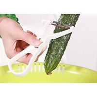 Dao nạo/bào rau củ quả Echo thân nhựa lưỡi thép không rỉ ( Giao màu ngẫu nhiên ) - Hàng nội địa Nhật Bản.