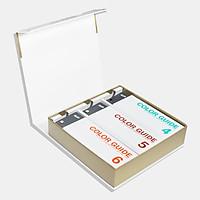 Bộ 4 thanh Tiêu chuẩn màu DIC Color Guide 456 - 3 Thanh DIC Color Guide 456 và 1 thanh chọn màu chính hãng của DIC Coporation - Màu DIC-2001 đến DIC-2638 nhập khẩu từ Nhật dành cho ngành in ấn thiết kế
