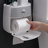 Hộng Đựng giấy vệ sinh 2 ngăn cao cấp