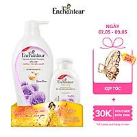 Dầu gội nước hoa  Enchanteur Charming/Sensation 650gr - Tặng sữa tắm nước hoa Enchanteur 150gr