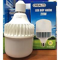 Bóng đèn led búp nhôm 20w thương hiệu CREALED  siêu sáng, bền, tản nhiệt cực tốt, tiết kiệm điện năng ,tuổi thọ lâu