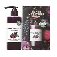 Sữa Rửa Mặt Sủi Bọt Khí 3 in 1 Tẩy Trang - Rửa Mặt Thải Độc Tố Wonder Bath Super Vegitoks Cleanser Purple 300ml