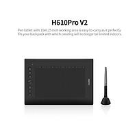 Bảng Vẽ Đồ Họa Điện Tử HUION H610PRO V2 USB Kèm Bút Vẽ Có Pin Huion - Đen