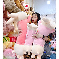 Thỏ Bông - Gấu Bông Thỏ Nằm Gối Ôm I Love U - Xưởng Gấu Bông Việt Nam