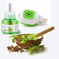 Bộ đèn xông tinh dầu đuổi muỗi và côn trùng Green Spearmint