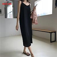 Đầm Bigsize Nữ  2 Dây Dáng Suông Mặc Nhà Vải Lụa Trượt Dành Cho Giới Trẻ