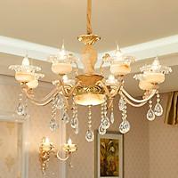 Đèn chùm - đèn trần 3 màu ánh sáng trang trí nội thất sang trọng - kèm bóng Led chuyên dụng