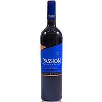 Rượu Vang Đỏ Passion Merlot 750ml 13.5% Không hộp