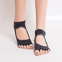 Women Non Slip Yoga Socks Toeless Non Skid Socks with Grips for Pilates, Barre & Ballet