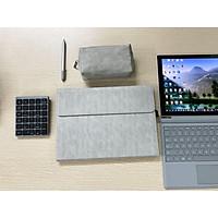 Set bao da, cặp da chống sốc, chống nước cho Microsoft Surface Pro 4, 5, 6, 7 kèm ví đựng sạc, chuột - Hàng chính hãng
