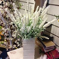 Combo 5 cành hoa lavender Pháp hạt xốp trang trí phòng khách, nhà hàng, khách sạn, hoa giả trang trí, hoa giả để bàn, bình hoa giả