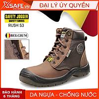 Giày bảo hộ lao động Jogger Rush S3 da ngựa siêu bền chống thấm nước giày bảo hộ lao động cao cổ