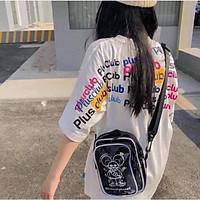 Túi Đeo Chéo Thời Trang Hoạ Tiết Hình Chuột Micky Kute Kiểu Mới Cho Nam Và Nữ Style RubyShop