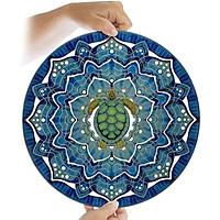 3D Sea Turtle Rotatable Wind-Bell Ocean Blue Bell Metal Pendant Domestic Decoration Handicraft