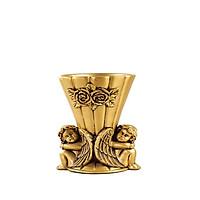 Bình hoa composite thiên thần ngồi vàng đồng 1