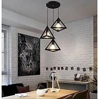 Bộ đèn thả khối tam giác TG100 - kèm bóng LED và đế ốp trần