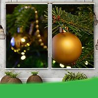 Rèm Tranh 2 Tấm Mẫu Giáng Sinh_CMAS53