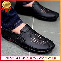 giày mọi nam da bò thoáng khí đế cao su khâu 2021