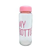 Bình Thủy Tinh Đựng Nước My Bottle 500ml Màu Nắp Ngẫu Nhiên)
