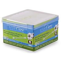 Bông tăm hữu cơ Silvercare hộp 200 cái