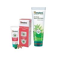 Bộ đôi sản phẩm cho da mụn giúp làm sạch da, kiềm dầu, kháng khuẩn (Sữa Rửa Mặt Ngăn Ngừa Mụn Trứng Cá - Himalaya Purifying Neem Face Wash 100ml , Acnes Cream 30g)