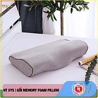 Gối cao su non Memory Foam Pillow công nghệ Nhật Bản - Giúp Ngủ Nhanh - Chống thoái hoá đốt sống cổ - HT SYS - [ Hàng Nhập Khẩu ]