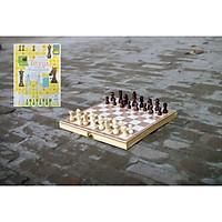 Cờ vua cho trẻ em, đồ chơi bằng gỗ cho bé thông minh làm từ gỗ tự nhiên an toàn cho con - Kèm dạy cách đánh cờ vua.