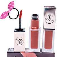 Son Roses Kem Lì Cao Cấp Mini Garden Matte Lipstick - Màu Cam Trà Sữa - Tặng Cột Tóc Tai Thỏ Màu Ngẫu Nhiên