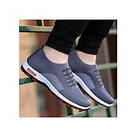 Giày thể thao vải nam cao cấp, cổ chun, đế cao su nguyên chất – G111