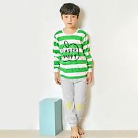 Bộ đồ dài tay mặc nhà cotton mịn cho bé trai U1002 - Unifriend Hàn Quốc, Cotton Organic