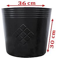 25 Chậu C13 LỚN 36x30cm nhựa PE dẻo trồng cây bền trên 10 năm-77116