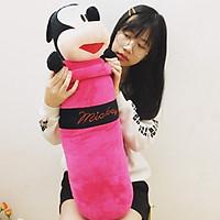 Gấu bông cao cấp Gối ôm Chuột Mickey màu  hồng