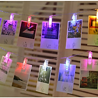 Bộ dây 3m 20 kẹp ảnh đèn led trang trí sinh nhât, nhà cửa, sự kiện chụp ảnh đầu cắm USB [Tặng móc dán tường treo đèn]