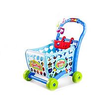 Bộ đồ chơi xe đẩy siêu thị không có nhạc cao cấp màu xanh BBT Global 008-903