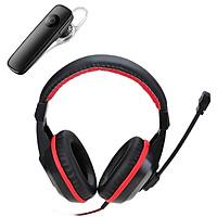 Combo Tai nghe chụp tai CT-800 kèm mic đàm thoại dành cho Game thủ chống nhiễu, chống ồn tốt + Tặng Tai Nghe Bluetooth Nhét Tai Kèm Mic Đàm Thoại M165 (màu ngẫu nhiên)