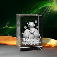 Tượng 3D Con Khỉ (Thân) - Trang Trí Xe Ô tô/ Bàn Làm Việc - Bằng Pha Lê