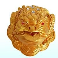 Thiềm Thừ Phong Thủy Chiêu Tài Lộc màu nhũ vàng  dài 20 cmTPT11