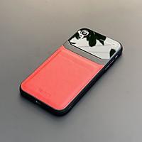 Ốp lưng da kính cao cấp dành cho iPhone XR - Màu đỏ - Hàng nhập khẩu - DELICATE