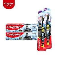 Bộ 2 kem đánh răng 40g và bàn chải Colgate cho trẻ em Batman