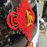 Dây treo nhung đỏ lập thể trang trí tết TL05