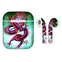 Miếng dán skin cho tai nghe AirPods in hình Rồng Dragon - dra004 (bản không dây 1 và 2)