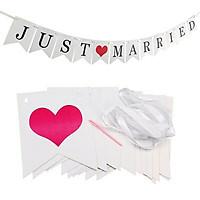 Dây treo Just Married trang trí tiệc cưới