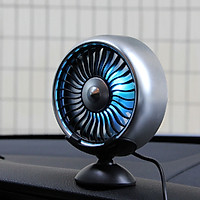 5V Car Supplies Car Multi-function Low noise Fan  Air Conditioning Wind Regulation Expansion Car USB Air Outlet Center Console Decoration Adjustable