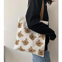 Túi vải canvas đeo vai Chọn nhiều mẫu Túi vải nữ phong cách Ulzzang siêu xinh