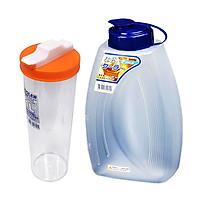 Combo Bình trữ nước trong tủ lạnh 1L + Bình đựng nước 2L nội địa Nhật Bản