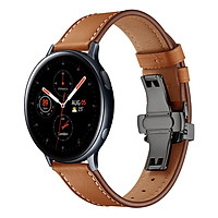 Dây Da Dành Cho Galaxy Watch Active 1, Galaxy Watch Active 2, Galaxy Watch 42, Gear S2 Khóa Chống Gãy (Size 20mm)