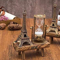 Đồng hồ cát tháp eiffel Paris kèm khung gỗ quà tặng quà lưu niệm văn phòng phẩm độc lạ phụ kiện trang trí bàn làm việc