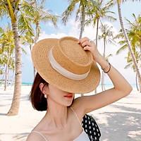 Mũ cói panama phong cách nón cói cao bồi  thời trang siêu hót