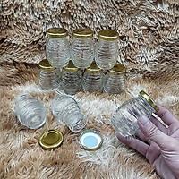 Hũ Chưng Yến 100ML (combo 10 hũ) mẫu con ong nắp thiếc vàng – Hủ Yaourt thủy tinh đựng mật ong, dầu dừa, gia vị, thức uống, thực phẩm