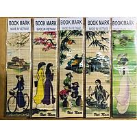 Mỹ nghệ Thanh Toàn - Kẹp sách tre màu 3 - Combo 5 cái
